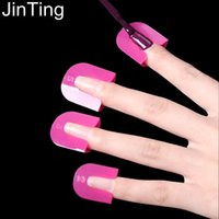apply art - pc Manicure set Nail Art Polish Protection Tip Protectors French Guide Tips UV Gel Apply Polish Protector