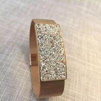 allergy medical bracelets - DA1255 D Prevent allergy medical vacuum plating rose gold and enchase import iamond Ms bracelet drop shipping
