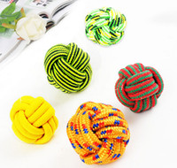 Wholesale Cotton Meteria Colorful Ball Pet Toy Cat Dog Chew Teethers For Cleaning Teeth Good Quality For Small Large Pets Size Mix Color
