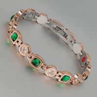 bars therapy - Wollet Jewelry in therapy health green crystal titanium bracelet for women