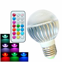 bar globe - 8W Color Changeable Remote Control RGB LED Light Bulb Timing Off E27 GU10 AC100 V for Home Bar KTV Party Christmas Lights