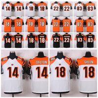 Wholesale Elite Bengals Jerseys Andy AJ Green William Tyler White Orange Black Men s football jerseys