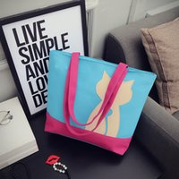 Wholesale Multi Colors Fashion Korean Style Canvas Shopping Bags Casual Lady Big Handbag Shoulder Bag for Lady