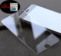 Gros verre protecteur d'écran Avis-Directement vente en gros parfait taille meilleur prix protecteur d'écran en verre gâché de gorille pour l'iPhone 6 6plus 7 avec le paquet de détail paquet via DHL