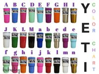 Wholesale 13 Colors Beer Mugs oz oz Yeti Cup Beer Cup by SFexpress Yeti Rambler YETI Coolers Rambler Tumbler Double YETI cup colsters