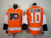 Wholesale Schenn Philadelphia Flyers Hockey Ice Jerseys ccm Premier orange home away wear Men Stitched Free Drop Ship Mix Order sunnee