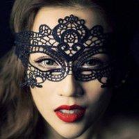 Wholesale 1 Black Lace masquerade mask Rose Sexy cutout mask Gift