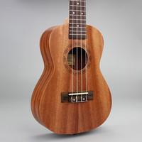 Wholesale 23 quot Ukulele Mahogany Acoustic guitar strings guitarra musical instruments
