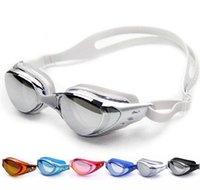 Wholesale Ajustable Swimming Goggles Diving Class Anti Fog UV Mirror Swim Glass Professional Eyeglasses for Adults Men Women