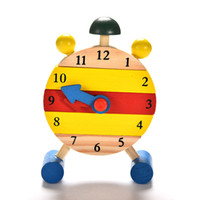 Wholesale Baby Kids Blocks Early Learning Building Educational Wooden Clock Toy Time Clock children s Educational Toys for boy and girl