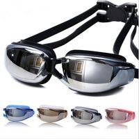 Wholesale 2016 Brand New Men Women Anti Fog UV Protection Swimming Goggles Professional Electroplate Waterproof Swim Glasses