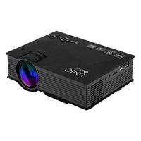 Wholesale UNIC UC46 Mini Portable Projector Full HD P Support Red Blue D Effect with WIFI Connection With Free HDMI Cable
