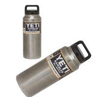 Wholesale Yeti oz oz Rambler Stainless Steel Cups YETI Rambler Tumbler Vehicle Beer Mug Double Wall Bilayer Vacuum