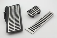 Wholesale car styling Fit For VW Jetta MK6 stainless steel AT Pedal Footrest Clutch Brake Gas Car Pedal