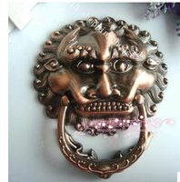 Wholesale Furniture Handle Knob beast Head Knocker outdoor courtyard door handle delicate Lion Head knob MM