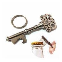 Wholesale Bottle Openers Key Shape Bottle Opener Metal Keychain Bottle Opener Antique Bronze Silver Retro Beer Opener