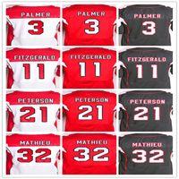 Wholesale Best quality jersey Men s Carson Palmer Larry Fitzgerald Patrick Peterson Tyrann Mathieu elite jersey White Red Black