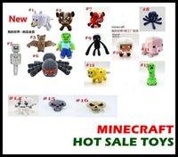 aa dolls - 20PCS Minecraft Serise dolls Overworld Core Stuffed Plush toys for children AA quality top Deluxe Doll kids GIFTS Cartoon bat Zombie Ghast