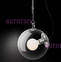 Wholesale living room dinning room clear glass modern hanging lighting Miconos suspension lamp pendant light diameter cm