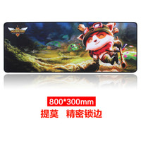 Wholesale lol game animation and creative advertising office cartoon mouse pad keyboard pad can be mass customization