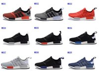 locker - 2016 Foot Locker Originals NMD Runner R1 Mesh Primeknit Boost Monochrome sport shoes Men s Running Sneakers
