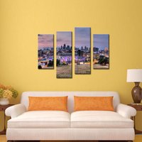 art kansas city - LK4165 Panel Oil Paintings Buildings Of Kansas City With Wide Square Wall Art City Landscape Pictures Print On Canvas The Picture For For