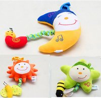 Wholesale Baby musical toys sun star moon Lyre music box Bed Stroller Toy Hanging Bell Crib Rattle Toys