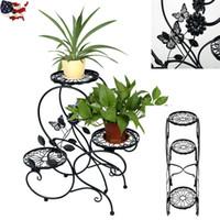 Wholesale 3 Tier Metal Plant Stand Indoor Decorative Planter Holder Flower Pot Shelf Rack