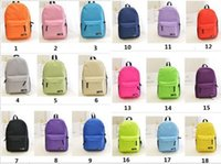 Wholesale 18 Styles Classic Unisex School Bags Backpacks For Teenager Candy Color Pretty Backpacks Students Shoulder Bags Multicolor Cheap Fine