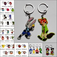 america accessories leading - Mixed avengers Superman Captain America Star wars mickey zootopia keychains pvc key rings Fashion key Accessories for bags kids party gifts