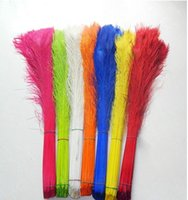 Wholesale dyeing peacock feathers cm inches Wedding centerpiece decor