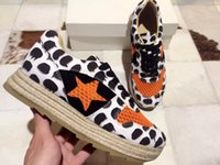 b trade - Sporting walking casual shoes foreign trade goods black and white leopard print knitted fabric vamp high end sheepskin inside fasion luxury