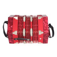 accordion reeds - High Quality Concertina Accordion Button Reed Anglo Style with Carrying Bag and Adjustable Hand Strap