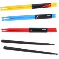 Grossiste-2pcs Druml Accessoires 5A Drumsticks Batterie Sticks Nylon Matériel Léger Design pour batterie
