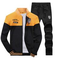 sweat suit - Winter Fashion Men s Sports Clothing Sets Plus Size Sweat Suits Jogging Suit slim fit Tracksuits high quality Coats Jacket Male Gym Clothing