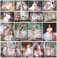 Wholesale 16pcs set Sizes Ballet dancer Action Print On Canvas Painting Studios Decor Art Photo Unframed Genteel Girls Cute Dancing Modular Picture