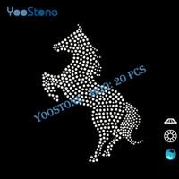 Wholesale Sale Newest Running Horse Rhinestone Applique Rhinestone Transfers Motifs For Sports Clothes