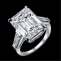 baguette wedding ring - 12 ct GIA J VS1 emerald cut baguette diamond engagement stone ring platinum