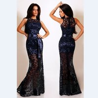 maxi skirt and dress - Europe and the United States explosion sleeveless Maxi Sun long lined lace skirt dress dress