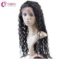 Wholesale Brazilian Human hair wigs Deep Wave Lace front wig B swiss lace front wigs quot quot half Glueless wig
