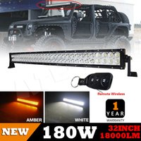 Wholesale USA Flash Inch W Double Rows Led Work Driving Light Bar Amber White Color Adjustable Mounting Bracklet SPOT FLOOD Combo Offroad x4