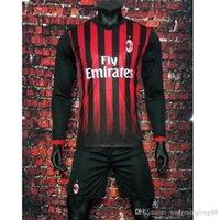 Wholesale Benwon Soccer Jerseys Bacca Bertolacci Romagnoli Bonaventura AC MILAN sleeved Kit Home t Shirts Menez Serie A Maillot Top Qualit