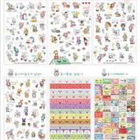 Wholesale Cute Cartoon Rabbit Stickers Transparent Computer Diary Letter Scrapbook Background Decorative Stickers Kids Gift Sticker Sheets Set