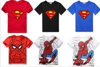 baby geek - Super Hero Superman Cartoon T Shirts Spider Man T Shirt Cotton Baby Kids Geek Tee Girls Boys Clothing