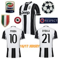 Wholesale 2016 Juventusizeres soccer jerseys survetement football Marchisio maillot de foot POGBA shirt Dybala Morata