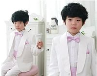 Wholesale BABY WOW Formal White Toddler Baby Boys Clothing Set New Year Christmas Birthday Party Wedding Dress for Boys Clothes Suit