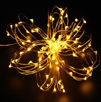 adapter colored lights - Christmas10m LED String Lights Copper Wire LED Starry Light Adapter For Wedding and Party Suitable for Indoors or Outdoors