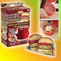 Wholesale Stuffed Burger Press Pizza Hamburger Grill BBQ Patty Maker Barbecue Cooking Tool Hamburger Presses Kitchen Meat and Poultry