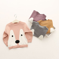 Wholesale Boy Girls INS Fox sweater new design children cartoon ins lovely fox Pure cotton layer Long Sleeve Sweaters Pullover B001