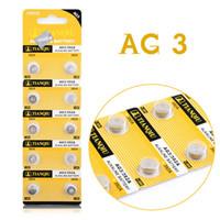 alkaline button cell batteries - AG3 SR41W SR41 L736 Alkaline Cell Button Batteries For Watch Toys EE6204